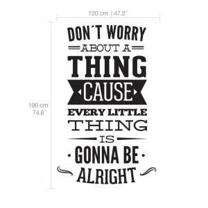 Wall Decal Quotes - Dont Worry Abou..