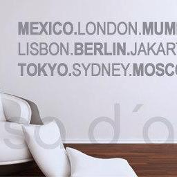 World Wide Cities - wall decal for ..