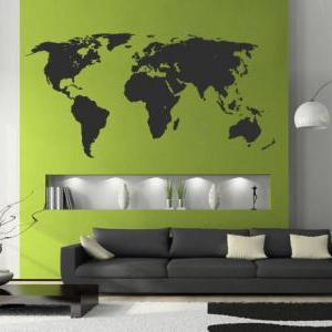 World Map Silhouette Decal for Hous..