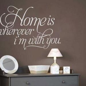 Wall Decal Quotes - Home is Whereve..