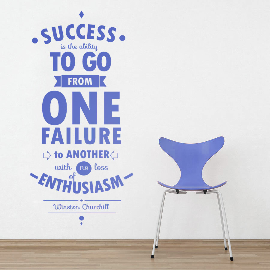 Wall decal quotes motivational quote success decor for Decor quotes