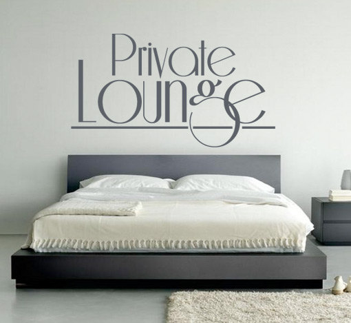 Private Lounge Typography Sticker Text Home Decor for Housewares
