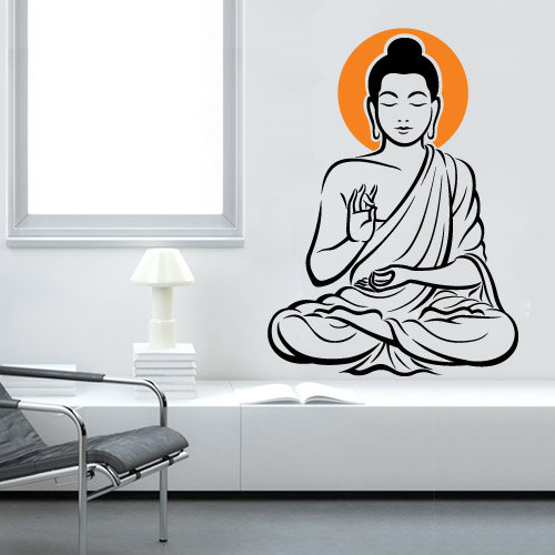 Vinyl Wall Decal Buddha Zen Oriental Sticker