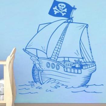 Pirate Ship Nursery Kids Decals - Little Pirates Wall Stickers