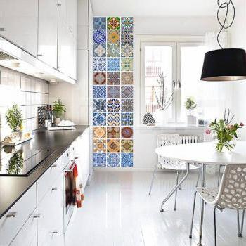 Tile Stickers Portuguese Modern Decor - Stick on ceramic tiles and change to a modern Decor (Pack with 48)