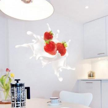 Strawberry Splash Sticker for housewares