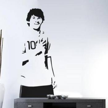 Leo Messi Soccer Player Decal Sports Silhouette for Housewares