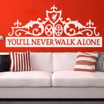 Liverpool FC - You'll Never Walk Alone, Wall Decor - Football Boys Room Decor - Gift for Men - Liverpool FC Soccer