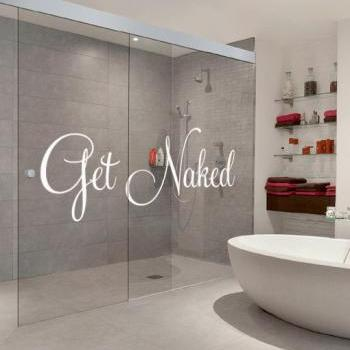 Get Naked Text Sticker Home Decor for Housewares Typographic Wall Vinyl Decal