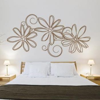 Floral Outline Sticker Nature Wall Decal for Housewares