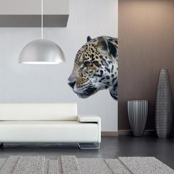 American Leopard Head Vinyl Wall Art Decal Sticker for Modern Living Room