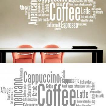 Vinyl Text Cafeteria Sticker Coffee Wall Decor for Homewares