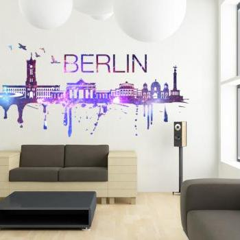 Berlin Skyline Cosmic City Decal All Modern Design Art Print Sticker