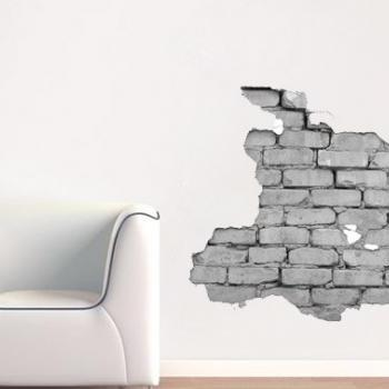 Brick Wall Effect Decal for Housewares