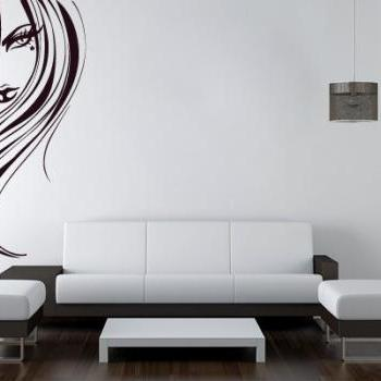 Vinyl Silhouette Mystery Woman Wall Decal Home Design