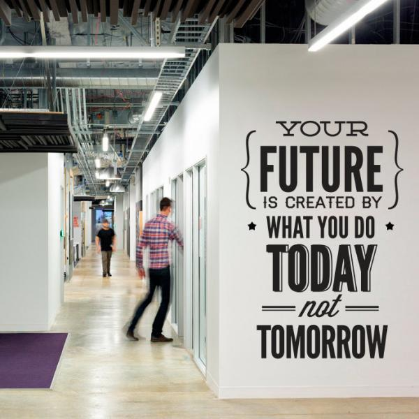 wall decal quotes vinyl quote do it today not tomorrow wall office sticker decor on luulla amazing wall quotes office